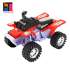 wholesale plastic 4x4 cross-country vehicle friction toy motorcycle with four wheels