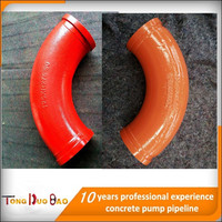 Manganese steel casting boom articulation pipe