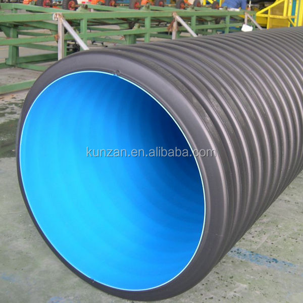 HDPE DWC underground drainage system double wall corrugated drainage pipe