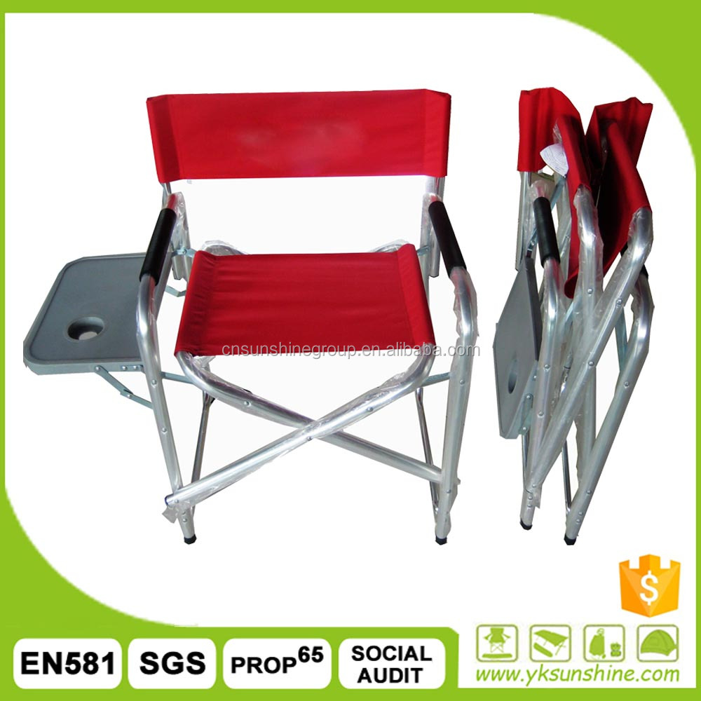 Aluminum Portable Backpack Folding Director Chair