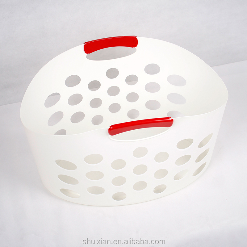 hot item soft recycle plastic basket with handle