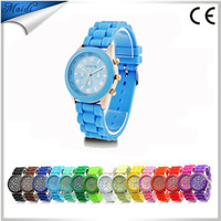 relojes hombre 2015 watch women multicolor jelly watches young school wristwatches fashion quartz watch color women dress GW015