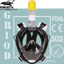 2017 Scuba Easy To Breathe Snorkel Mask Full Face 180 Degree View With Gopro Mount