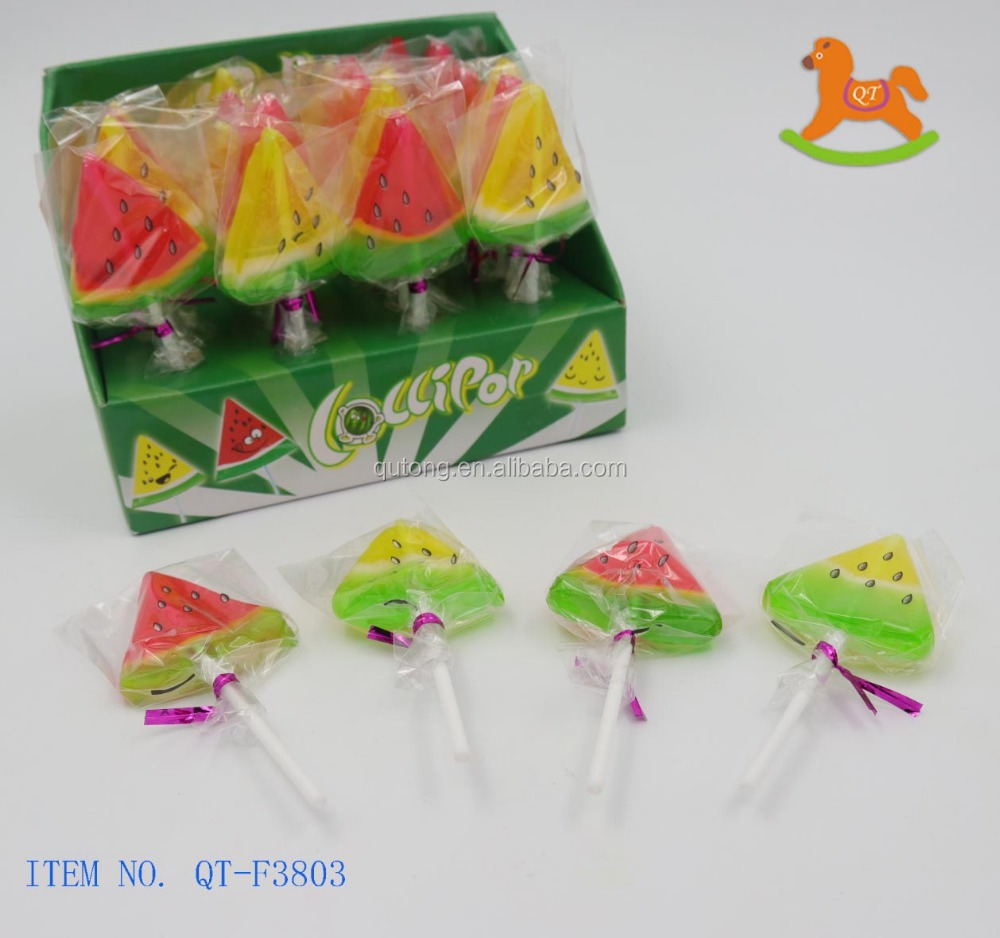 Hot sale for colorful watermelon sweet lollipop hard candy in display box