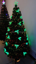 6' Pre-Lit Color Changing Fiber Optic Artificial Christmas Tree - Multi led spiral rope light battery fiber optic christmas tree