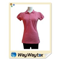 High quality fashion design sports casual style lady t-shirt polo