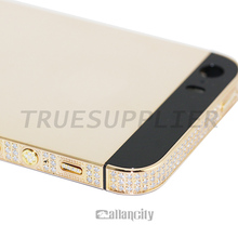 for iphone 5 24k rose gold plating back cover for iphone 5 gold body for iphone 5 gold housing