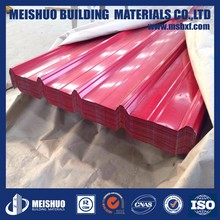 Color painted Zinc coated corrugated galvanized steel roofing