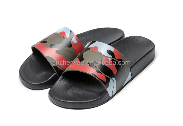 unisex SPA slippers wholesale camouflage slide sandals
