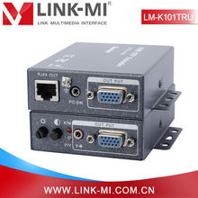 LINK-MI LM-K101TRU 100m USB+VGA KVM Extender Over utp cable can remove and insert the local and remote keyboard and mouse