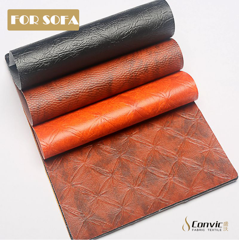 wearproof synthetic elastic feature <strong>leather</strong> for fashion sofa making