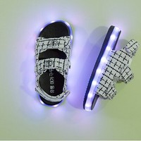 light up shoes light sandals, new style toddler sandals, girl sandals with led light
