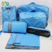Waterproof polyester 7pcs set Travel storage set bag in bag