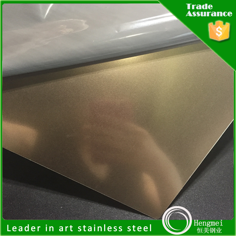 Manufacturer China Color Decoration Bead Blasted Stainless Steel Plate Sheet