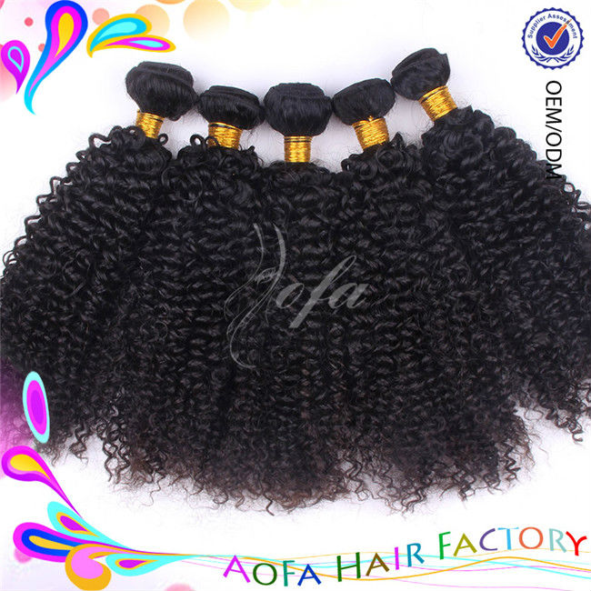 Natural color virgin brazilian hair spiral curl hair extensions