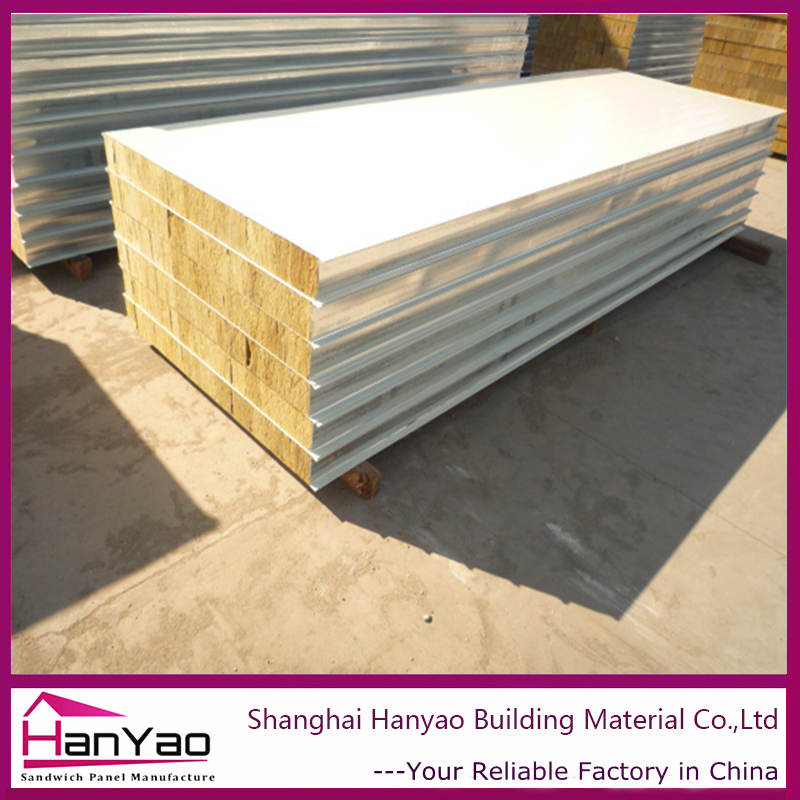Fireproof Easy Installation Mineral Wool Rockwool Sandwich Panels for Factory Building