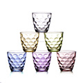 hot sale the most popular 270ml color glass cup with bubbles