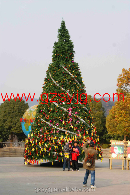 10m artificial christmas tree big pine with jewelry for tourist attraction decoration