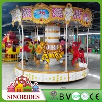 9 seats small carousel attraction foraine a vendre animal carousel for sale