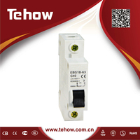 Single phase 32 amp electrical miniature circuit breaker MCB swithc