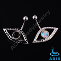 2014 new belly jeweled big eye design navel ring piercing body jewelry