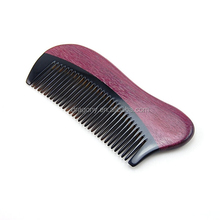 health care violet wooden beard OEM available ox Horn Comb