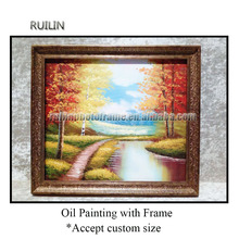 painting frames antique with canvas high quality