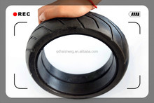 Small size solid rubber tires with custom service