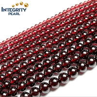 3mm 4mm garnet gemstone loose gesmtone round 5A grade natural garnet loose strand beads gemstone