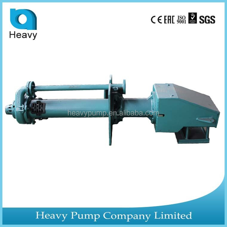 Submersible vertical slurry pump for coal mining
