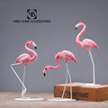 Home Decorative Pink Resin Flamingo Sculpture