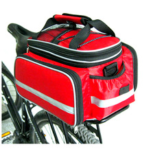 25L Bicycle Carrier Bag Rear Rack Bike Trunk Bag Back Seat Double Side Big Capacity Cycling Bag