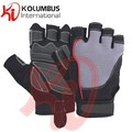 Artificial Leather Weight Lifting Gloves, Fancy Design Amara And Spandex Fitness Training Weight Lifting Gloves