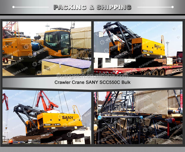 China Famous Brand SANY SCC500E Hydraulic 50ton Crawler Crane With Competitive Price