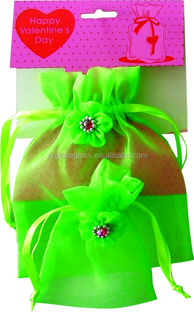 Global Decorative Drawstring Custom-made Sheer Gift Bags