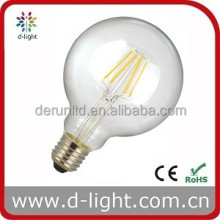 G95 filament 800lm 8w E27 round clear led dimmable bulbs