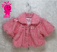 Fake Fur Vest Waistcoats, Winter Baby Girl Clothes Cute Warm Coat Princess Design Girl's Outerwear Thick Fur Kid's Coat