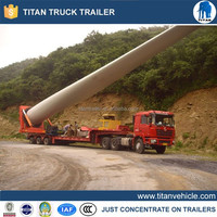customized 3 axles wind blade trailer