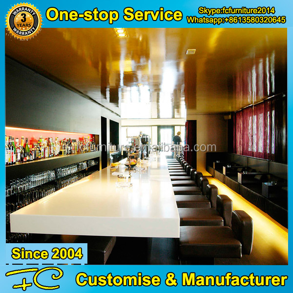 Good sell wooden coffee bar counters design for sale