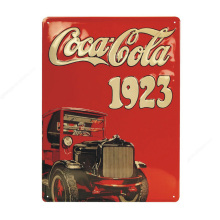 Embossed tin sign vintage wall hanging advertising metal signs