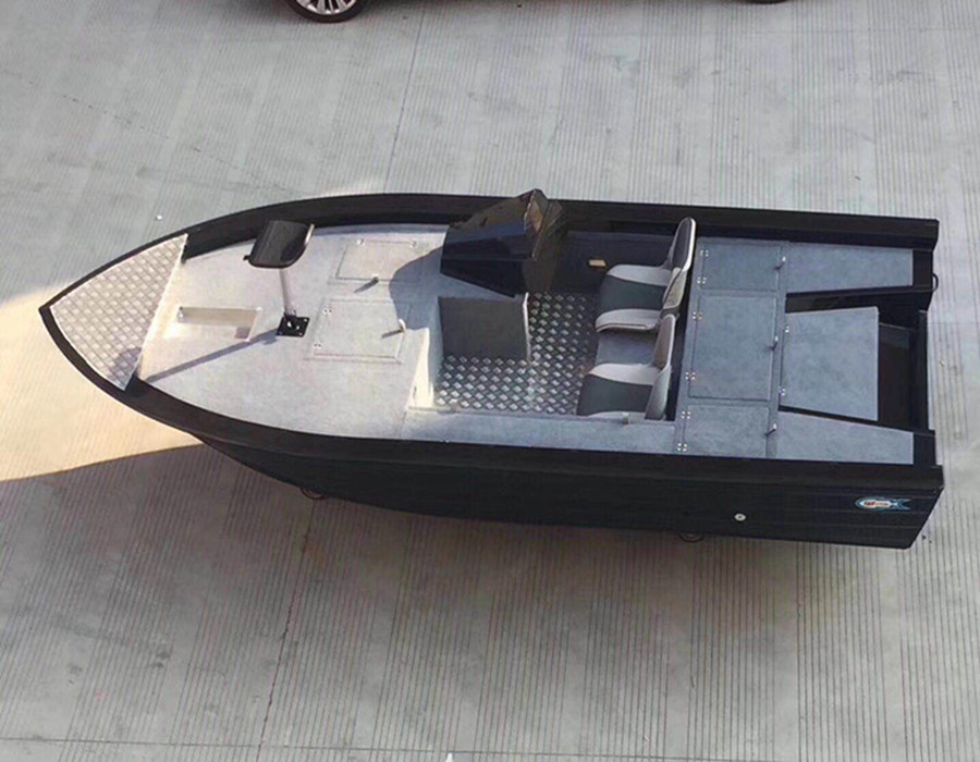 Small Aluminum bass boat Fish yatch