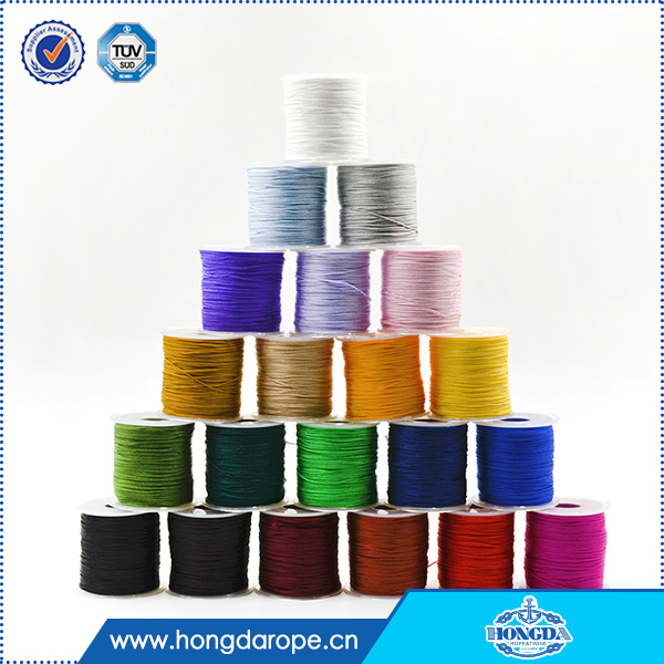1mm nylon twine colorful braided nylon cord