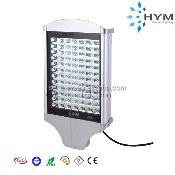 Aluminum 2 Years warranty Cool white LED Street light with branded driver