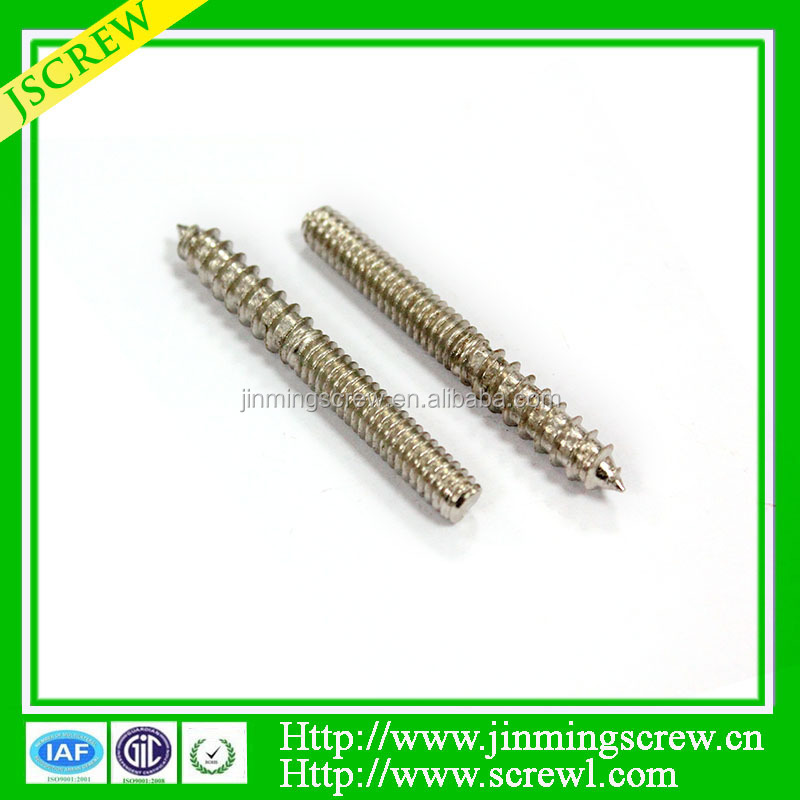 Red Plating Round Hole Drive Reduced Shank Bolts High Quality double sided screw bolt