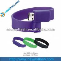 silicon many color Bracelet USB memory sticks / Wristband USB flash drives