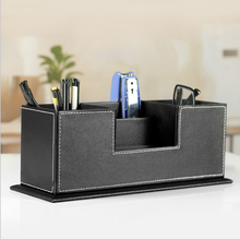 Chinese factories wholesale storage boxes, luxury leather office storage box, black pen container