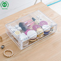 Clear acrylic material acrylic jewelry cosmetic storage display box