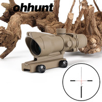OEM Ohhunt Shockproof Red Fiber Optic 4x32 Hunting Rifle scope