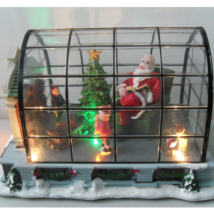 New design battery powered LED Motion and Musical Christmas house for Christmas gift