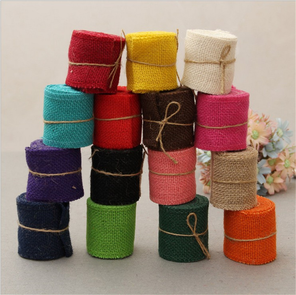 Wholesale Best Price 6CM Linen Jute Ribbon Roll For Decoration